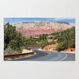 Winding road in Sedona, Arizona Rug