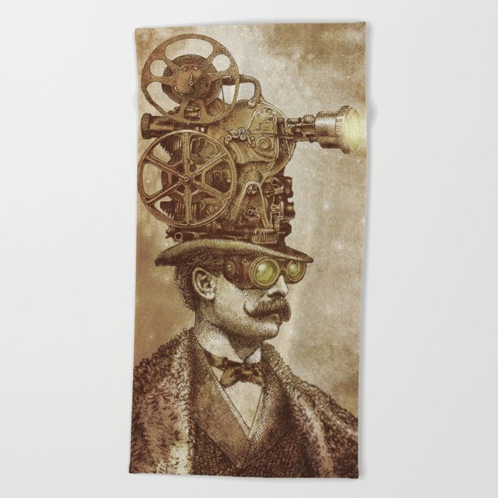 The Projectionist (sepia option) Beach Towel