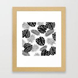 TROPICAL LEAVES 7 Framed Art Print