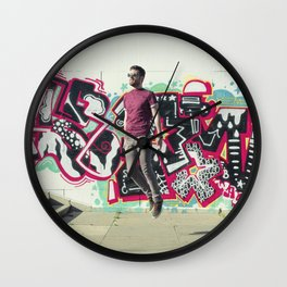 Hipster Abduction Wall Clock