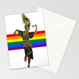 Carmen Miranda Rainbow Lgbt Pride Season Brazil Stationery Cards