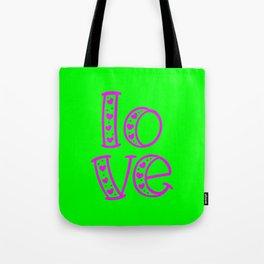 Love & Flashy Colors Tote Bag