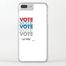 VOTE NOW Clear iPhone Case