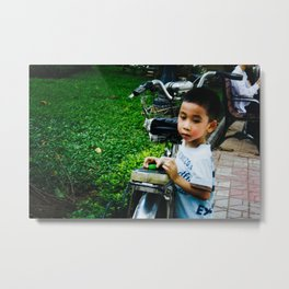 Boy in Hanoi Metal Print