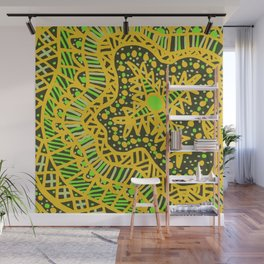 Doodle 16 Yellow Wall Mural