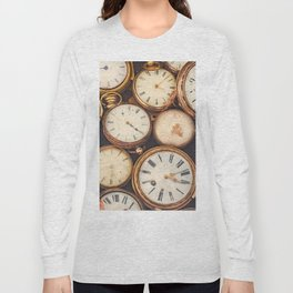 Old scratched and run down pocket watches Long Sleeve T-shirt