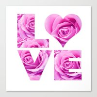 all you need is love Canvas Prints featuring Love is all you need by LebensART