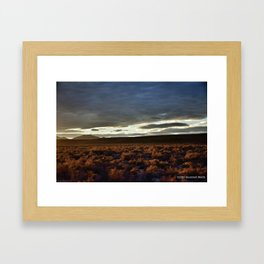 Desert Fly By Framed Art Print