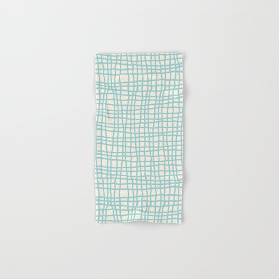 Blue Scribbles Pattern 06 Hand & Bath Towel
