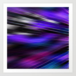 Re-Created  Feather ix by Robert S. Lee Art Print