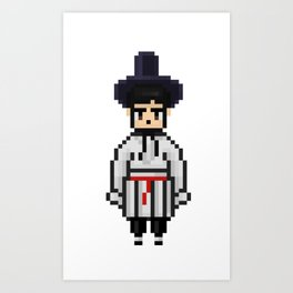 BTS SEOKJIN Hanbok Korean traditional clothes pixel art (big) Art Print