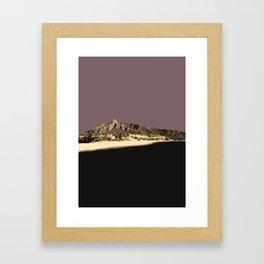 Marbella Mocha Framed Art Print