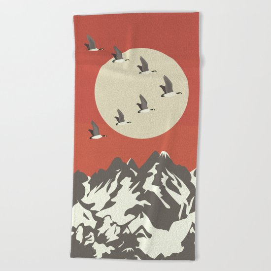 Migration Beach Towel