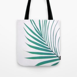 Green simple palm leaves Tote Bag