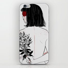 When her petals fall, they hit like bullets. iPhone Skin