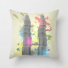 Petronas Towers Abstract Throw Pillow