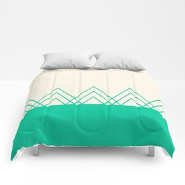 Mint Triangles Comforters