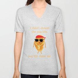 Funny Nugget Shirt, Nug Life, Chicken Nugget Tshirt Unisex V-Neck