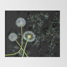 Blowing Dandelions, Scanography Throw Blanket