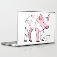 piglet Laptop & iPad Skins featuring Piglet by Doctor Hue