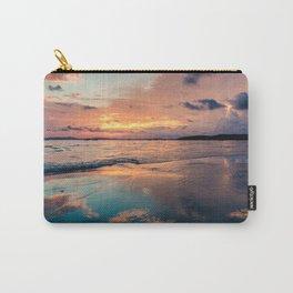 Beautiful Summer Beach Sunset Reflection Carry-All Pouch