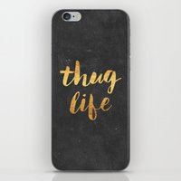 2pac iPhone & iPod Skins featuring Thug Life by Text Guy