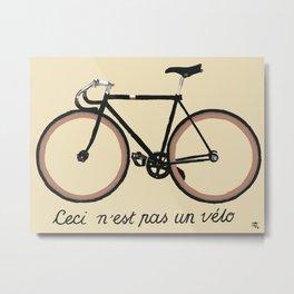 Ceci n'est pas un vélo Metal Print