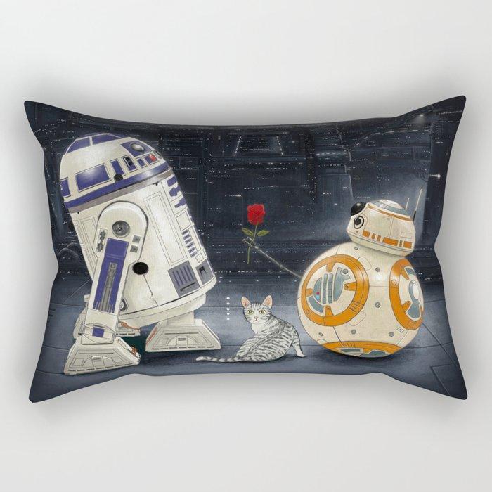 LOVE DROID & THE CAT Rectangular Pillow