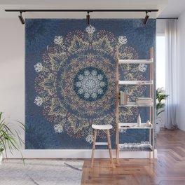 Blue's Golden Mandala Wall Mural