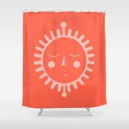 sleepy sun Shower Curtain