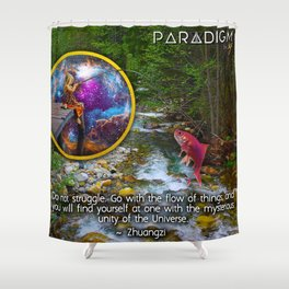 Fishing from another Dimension Shower Curtain