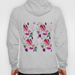 Ornaments  red green on white Hoody