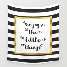 The Little Things Quote Wall Tapestry