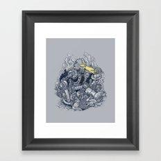 Zombie Exterminator Framed Art Print