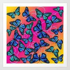 Cool Monarchs at Sunset Art Print