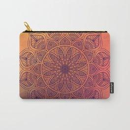 Peach Mandala Carry-All Pouch