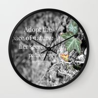 lee pace Wall Clocks featuring Adopt the Pace by Organic Photography