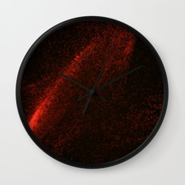Abstract red glowing particles Wall Clock