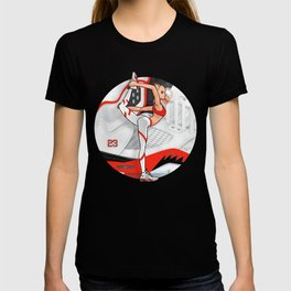 """Yoga girl Cool Noodle and """"Fire Red"""" T-shirt"""