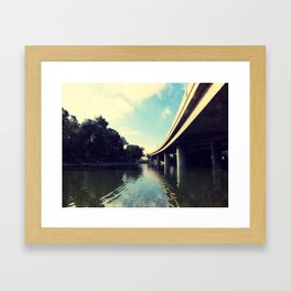 Freeway Overpass at Hollenbeck Park, Los Angeles, CA Framed Art Print