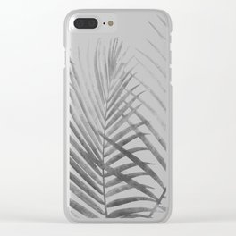 Black and White Tropical Palms Clear iPhone Case
