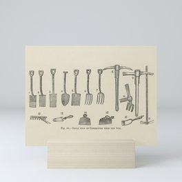 The fruit grower's guide  Vintage illustration of tools Mini Art Print