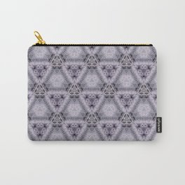 Pale Purple Pyramids Carry-All Pouch