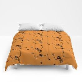 Halloween Skeleton Pattern Comforters