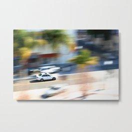 car in motion Metal Print