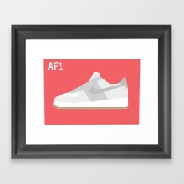 Air Force Minimalist Framed Art Print