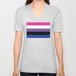 Gender Fluid Flag Unisex V-Neck