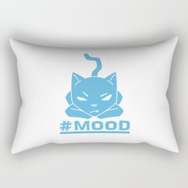 #MOOD Cat Blue Rectangular Pillow