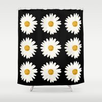 daisy Shower Curtains featuring Daisy by nessieness