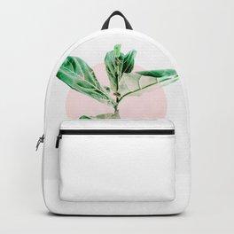 Fiddle leaf - pink pot II Backpack
